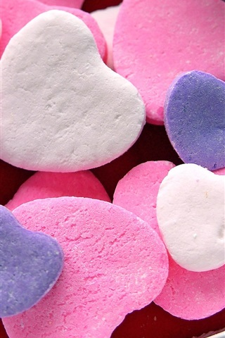iPhone Wallpaper Love heart-shaped candy