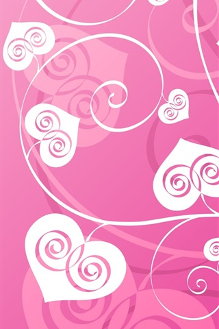 iPhone Wallpaper Love heart-shaped leaves