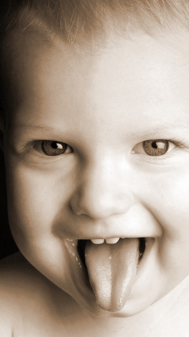 Make Faces Cute Baby 640x1136 Iphone 5 5s 5c Se Wallpaper