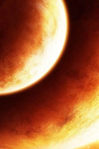 iPhone Wallpaper Orange Planet