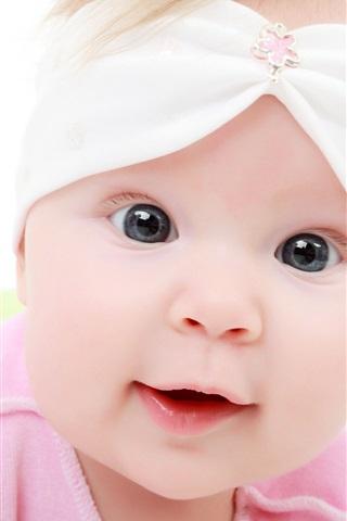 iPhone 배경 화면 핑크 옷 귀여운 아기