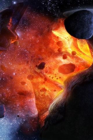 iPhone 배경 화면 행성 폭발