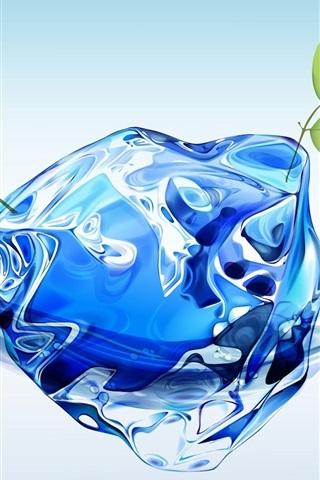 iPhone 배경 화면 신록과 함께 3D 물