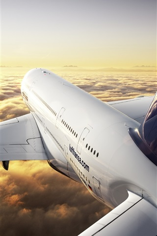 iPhone Wallpaper Airbus A380