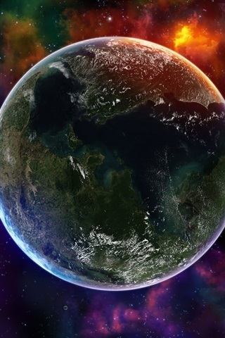 iPhone 배경 화면 지구의 백라이트