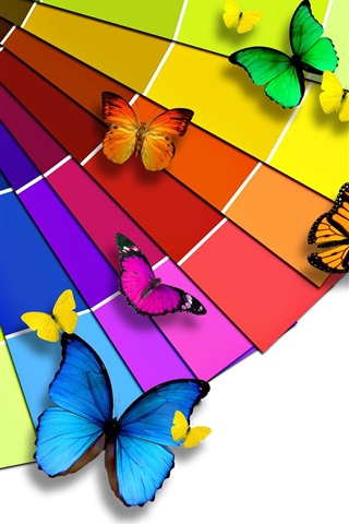 iPhone Wallpaper Bright color palette and the Butterfly