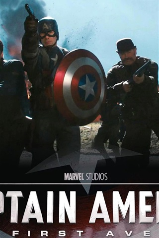 iPhone 배경 화면 캡틴 아메리카 : 첫 아벤저 HD
