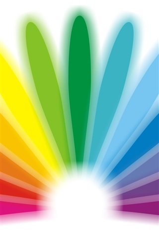 iPhone Wallpaper Colorful semi-circular design