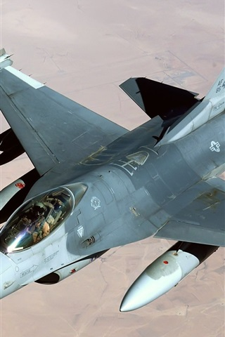 iPhone 배경 화면 평야를 통해 비행 전투기