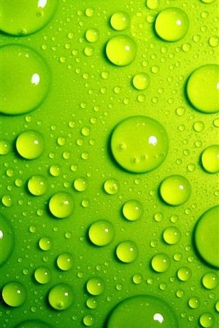 iPhone Wallpaper Green drops