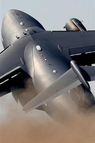 iPhone 배경 화면 무거운 군용 수송 항공기