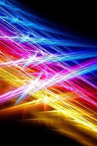 iPhone 배경 화면 선 색상 라이트 빔