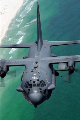 iPhone 배경 화면 록히드 AC - 130H Spectre 항공기