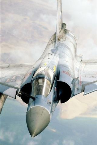 iPhone Wallpaper Mirage fighter flying cloud