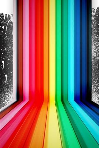 iPhone 배경 화면 레인보우 컬러 스프레이