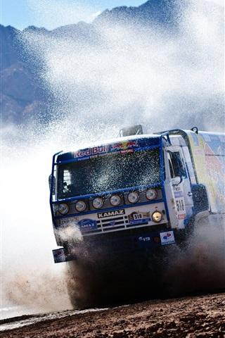 iPhone Wallpaper Red Bull KAMAZ truck