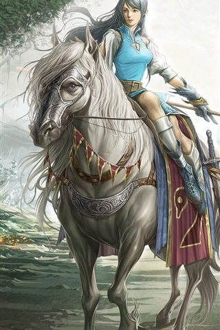 iPhone Wallpaper Riding girl