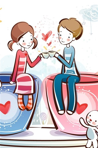 iPhone Wallpaper Romantic love coffee