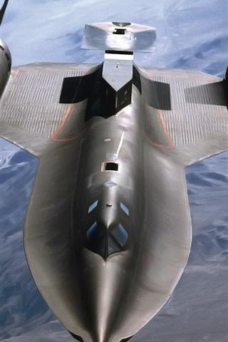 iPhone Wallpaper SR-71 Blackbird fighter