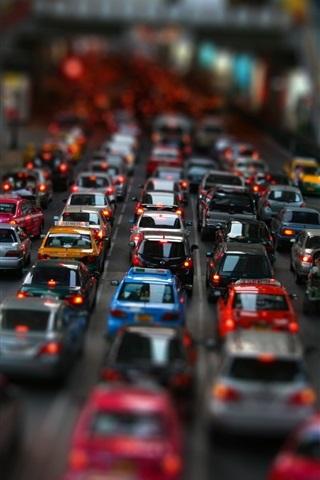 iPhone 배경 화면 스트리트 자동차 교통 체증