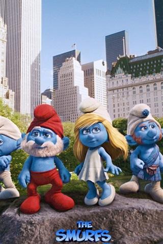 iPhone 배경 화면 Smurfs