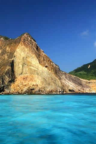 iPhone Wallpaper Turtle Island in Ilan Taiwan