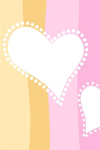 iPhone Wallpaper Two heart-shaped love