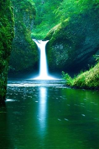 iPhone Papéis de Parede Cachoeira do rio verde