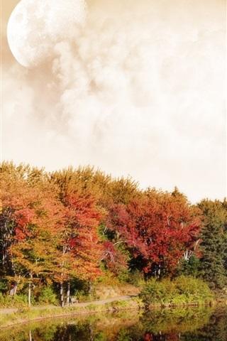 iPhone 배경 화면 붉은 가을