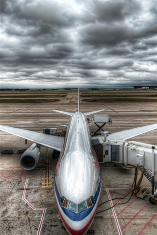 iPhone Wallpaper Civil Aircraft Airport