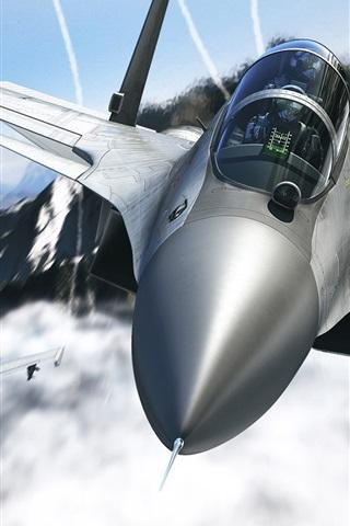 iPhone 배경 화면 전투기 공기 흐름