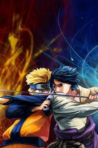 iPhone Wallpaper Naruto VS Sasuke