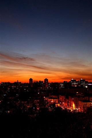 iPhone Wallpaper Night city sky