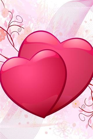iPhone Wallpaper Pink love heart