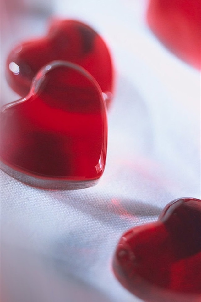 Red Love Heart Shaped Candy 640x960 Iphone 4 4s Wallpaper