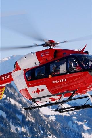 iPhone 배경 화면 스위스 산악 헬리콥터