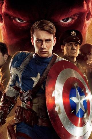 iPhone 배경 화면 2,011 캡틴 아메리카