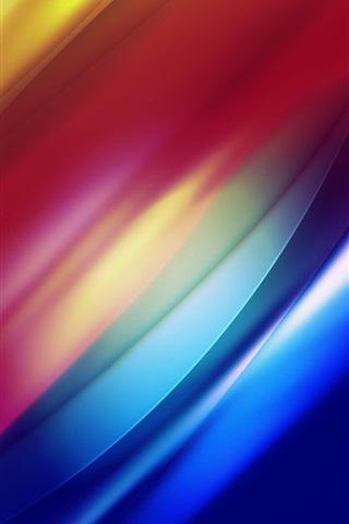 iPhone 배경 화면 발광 라인의 밴드 라이트 곡선