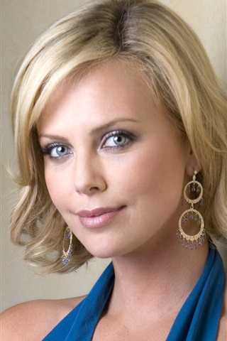 iPhone 배경 화면 Charlize Theron 01