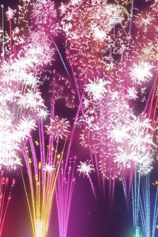 iPhone 배경 화면 축제 불꽃놀이