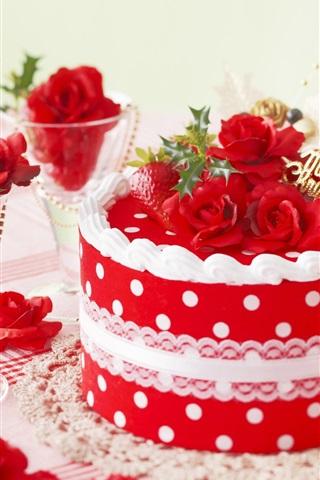iPhone Wallpaper Festive cake