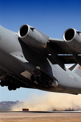 iPhone 배경 화면 군사 항공기 이륙 전송