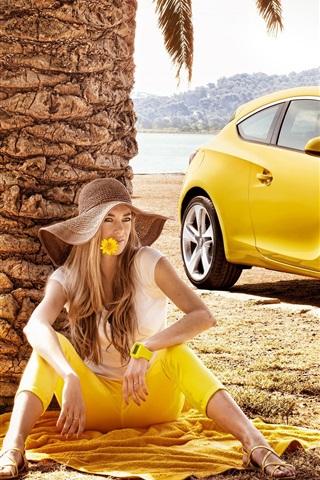 iPhone 배경 화면 Opel Astra GTC 2011