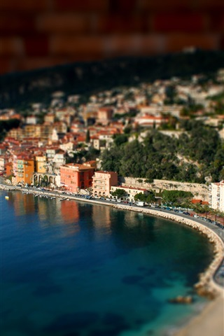 iPhone Wallpaper Port miniature landscape photography
