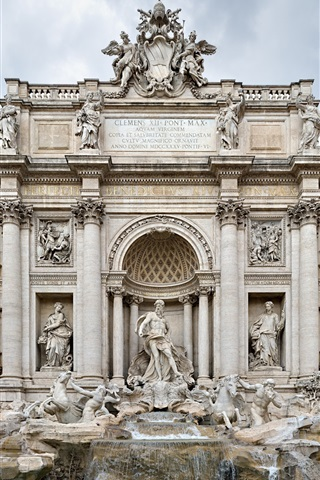 iPhone 배경 화면 로마의 분수 건물