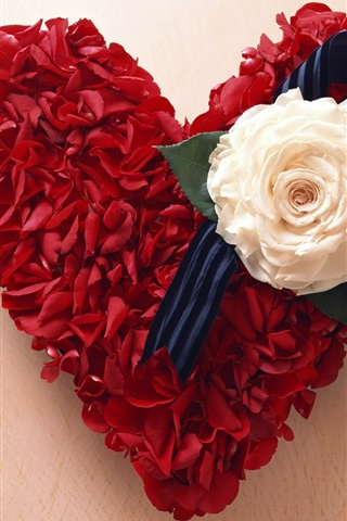 iPhone Wallpaper Rose Love Heart