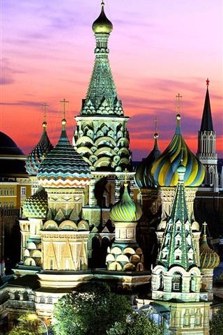 iPhone 배경 화면 러시아 모스크바 밤