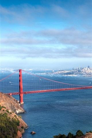 iPhone Wallpaper American cities Bridge