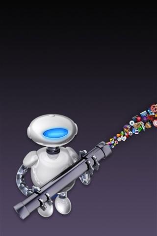 iPhone Papéis de Parede Maçã robô e ícone