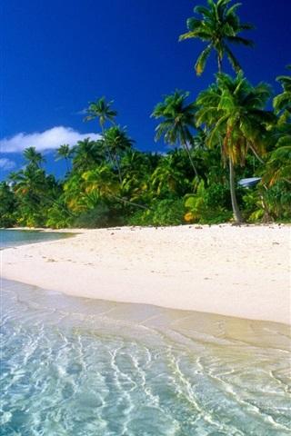 iPhone 배경 화면 아름다운 꿈의 해변